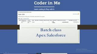 Batch Class and Scheduler in Apex Salesforce - coderinme