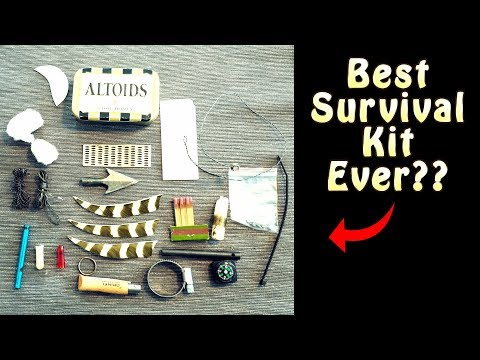Worlds Best Survival Kit in an Altoids Tin