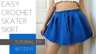 Easy Crochet Skater Skirt | Tutorial DIY