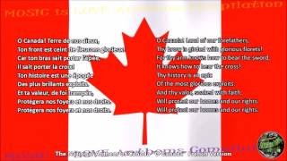 Canada National Anthem FRENCH version with music, vocal and lyrics w/English Translation