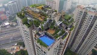 Who Built a Secret Mountaintop Mansion on Top of This Skyscraper?