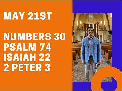 May 21st: Bible Reading