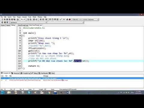 Video 26 - Xâu ký tự trong C
