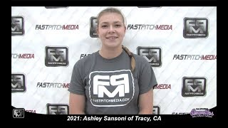 2021 Ashley Sansoni Power Hitting Third Base Softball Skills Video