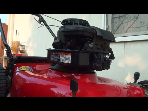 How to repair a Briggs and Stratton lawnmower fuel problem diaphragm lawn mower carburetor rebuild
