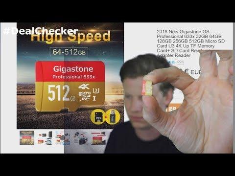 DEALCHECK - 512 GB Speicherkarte für 8 Euro??? von WISH.COM