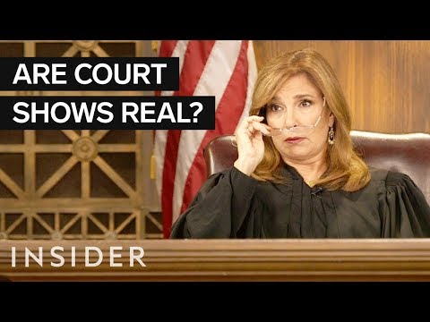 TV Court Shows aren't Real