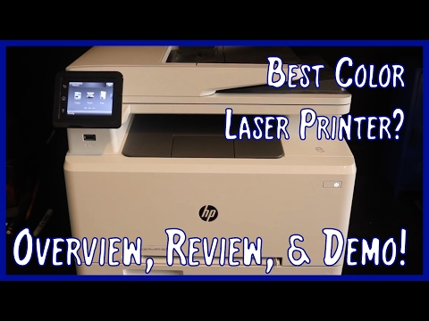 HP Color Laserjet Pro M277dw Overview, Review, and Demo | Best Color Laser Printer?