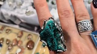Авторские украшения из серебра с натуральными камнями. Обзор ювелирной выставки