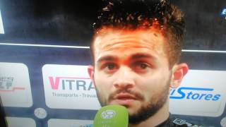 preview picture of video 'Angers SCO - Auxerre. Réaction Khaled Ayari'