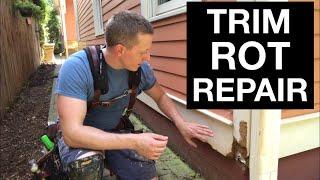 Repair Trim Rot (Skirt Board And Corner Board)