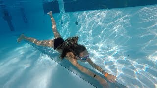 Carla Underwater Long swim and Breath holding underwater