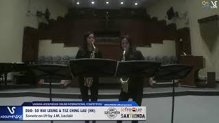 DUO S.W. LEUNG &  T.C. LAU play Sonate en Ut by J.M. Leclair