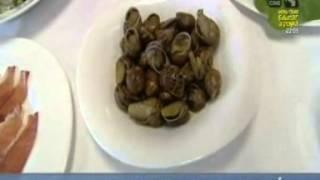 preview picture of video 'Granja de caracoles en Montalbán y receta de ensalada de caracoles y jamón'