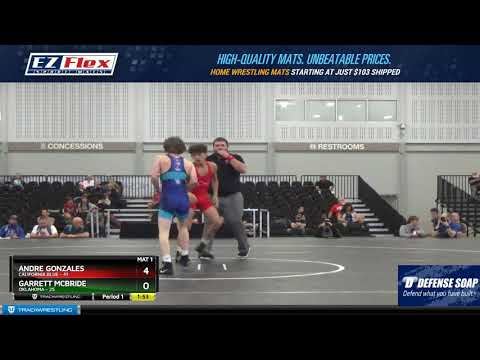 Mat 1 106 Andre Gonzales California Blue Vs Garrett McBride Oklahoma