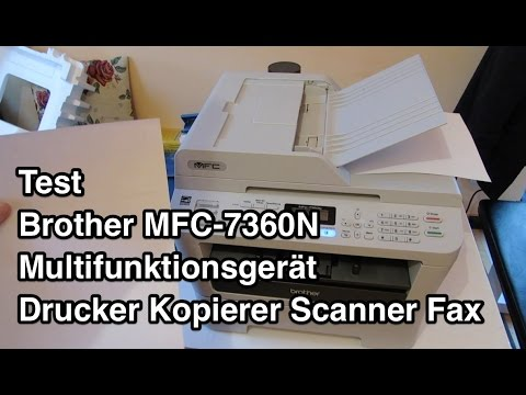 Test Brother MFC-7360N | Brother Drucker | Multifunktionsgerät | Brother MFC 7360N Mp3