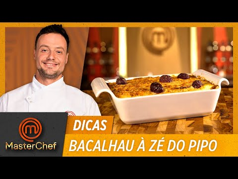 BACALHAU À ZÉ DO PIPO com Willian Peters   DICAS MASTERCHEF