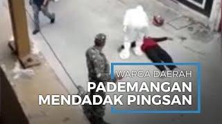 Warga Pademangan Mendadak Jatuh Pingsan, Dievakuasi Petugas Pakai APD hingga Lokasi Disterilkan