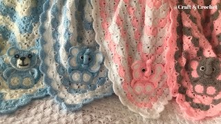 Crochet Blanket Pattern/Crochet Baby Blanket/Crochet Shell Pattern
