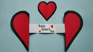 Easy Greeting Card : Fathers Day Gift Ideas 2020 In Lockdown | Paper Craft Heart Fathers Day Gifts