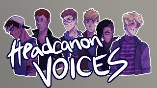 HEADCANON VOICES FOR MY OCS! Get to know a little bit about them