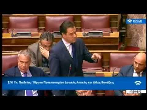 Κραυγές του Άδ. Γεωργιάδη στη Βουλή