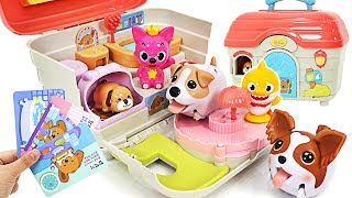Come to Puppy house! Pinkfong take care of Baby Sharks and puppy~   PinkyPopTOY