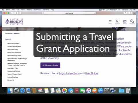 Tutorial - Submitting a Travel Grant Application