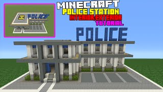 Let's Build a Police Station / Jail in Minecraft -- Tour
