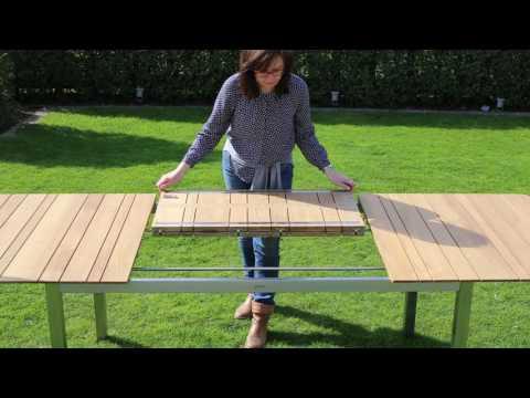 Ausziehbarer Teakholz-Gartentisch für Garten & Terrasse