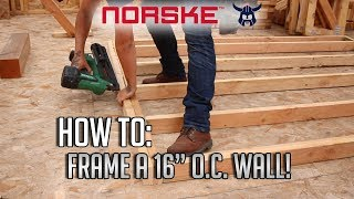 """How To: Frame a 16"""" O.C. Wall! (Most Common Wood Framing Method)"""