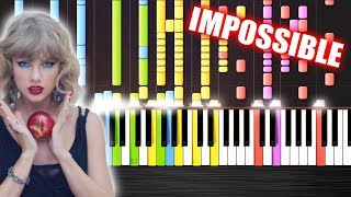Taylor Swift - Blank Space - IMPOSSIBLE REMIX by PlutaX - Piano - Synthesia