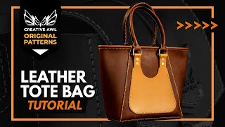 How To Make Leather Tote Bag With Zipper