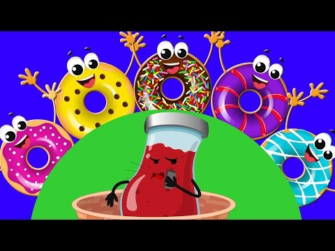 Five Little Donuts | Five Little Series | Original Rhymes By Kids Baby Club