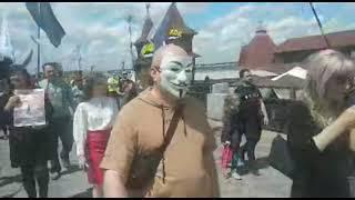 В Днепре протестовали против прививок от COVID-19 и карантина
