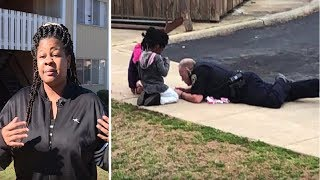 Mom Watches Cop Lie on Ground with Her Girls and They Never Look at Cops the Same Way Again