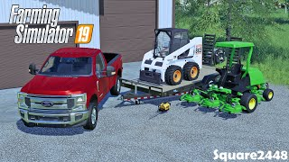 Buying New Bobcat 863 & John Deere Mower | Landscaping Upgrades | FS19