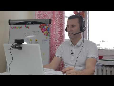 Kadr z filmu na youtube - Lingua Pro - zajęcia przez skype wersja 1