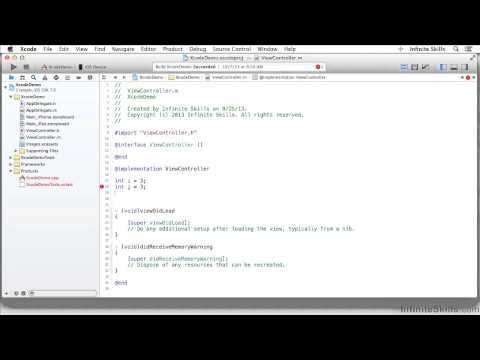 Objective-C Programming Tutorial | Editing Code – The Basics
