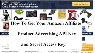 How to generate amazon product advertising api keys public access amazon affiliate api and secret access key fandeluxe Images