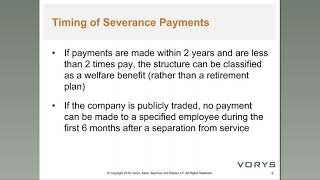 Employment and Severance Agreements Intro Edit