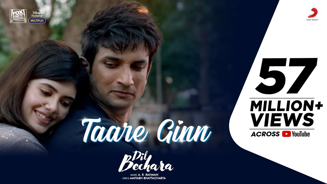 Taare Ginn Lyrics - Dil Bechara