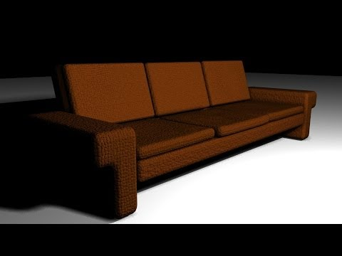 Maya 2014 tutorial : How to model and texture a sofa