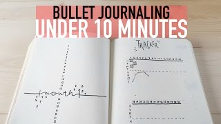 Bullet Journaling UNDER 10 MINUTES  | Minimalist Spreads - Video Youtube