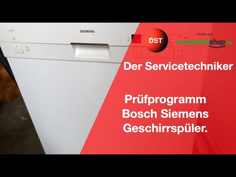 Prüfprogramm Siemens/ Bosch Geschirrspüler ältere Modelle