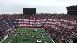 University of Michigan Stadium Card Stunt - November 19, 2011