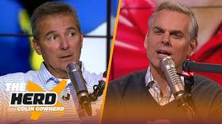 Urban Meyer speculates on if Lincoln Riley would take Cowboys job, talks Michigan | CFB | THE HERD