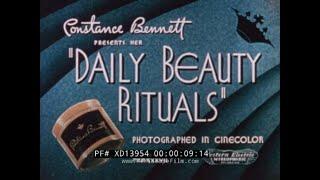 """1937 CONSTANCE BENNETT """" DAILY BEAUTY RITUALS """"  WOMEN'S SKIN CARE & MAKEUP XD13954"""