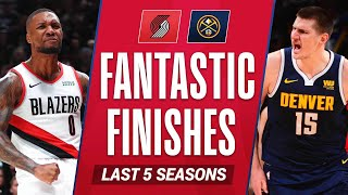 Trail Blazers-Nuggets Fantastic Finishes | Last 5 Seasons