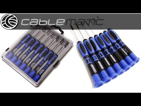 Kit de pequeños 7 destornilladores torx phillips planos distribuido por CABLEMATIC ®